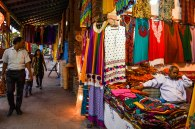 """Ladies' items are the most sold items. As per Javed, a Kashmiri artisan , living in Okhla , New Delhi says """" We were carpet dealers but started with ladies kurta as well because they sell the most""""."""