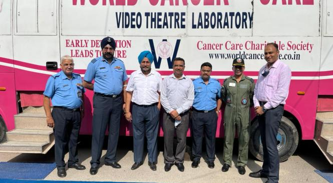 A mega awareness and Screening camp for non-Communicable diseases (NCDs) organised in 12 Wing Airforce Family Welfare Centre Chandigarh