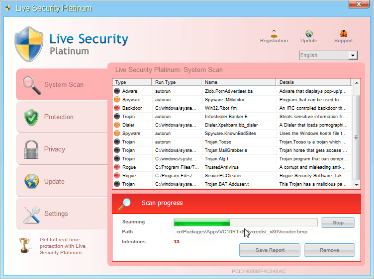 [Image: Live Security Platinum virus]