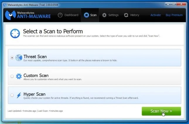 [Immagine: Threat Scan Malwarebytes Anti-Malware]