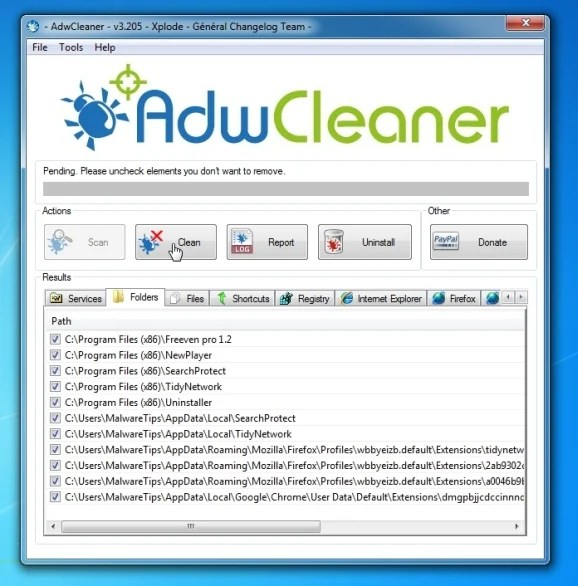 Remove Fun2Save virus with AdwCleaner