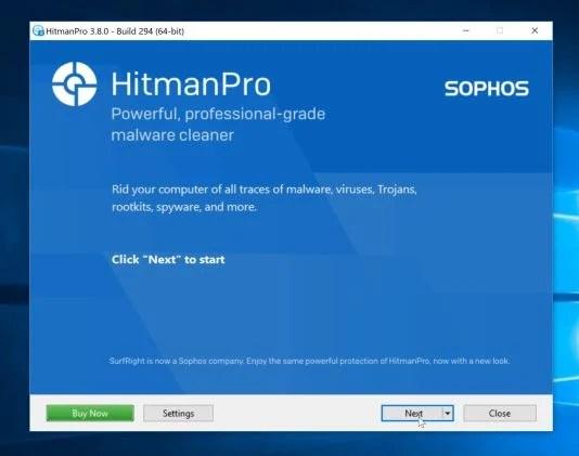 HitmanPro setup process