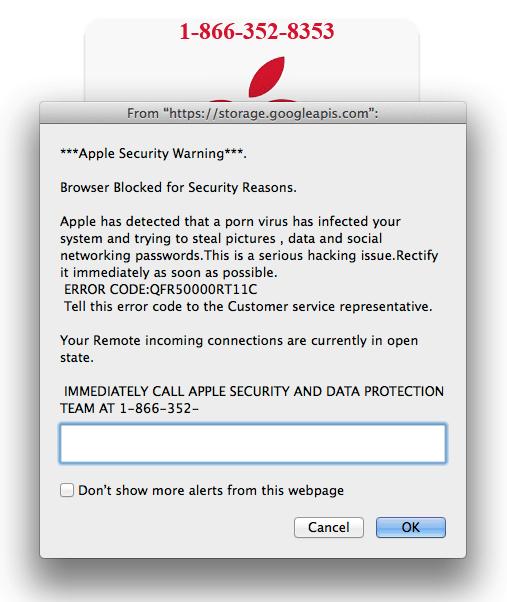 Mobile Securityvirus Warning