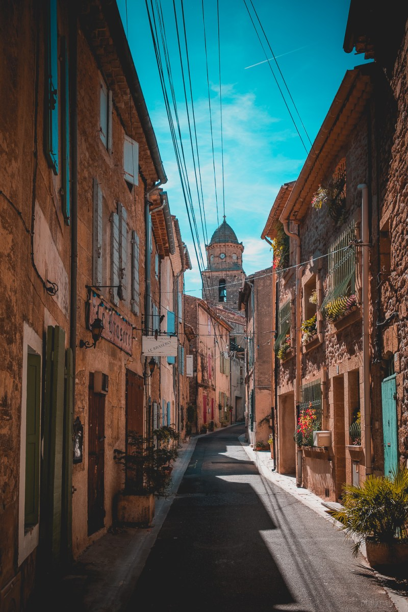 Narrow streets of a small village of Provence