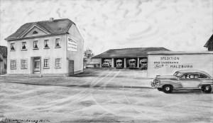 Firmengelände Spedition Malzburg 1955