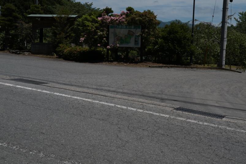 静岡県富士市大渕公園の見過ごしやすい公園入口