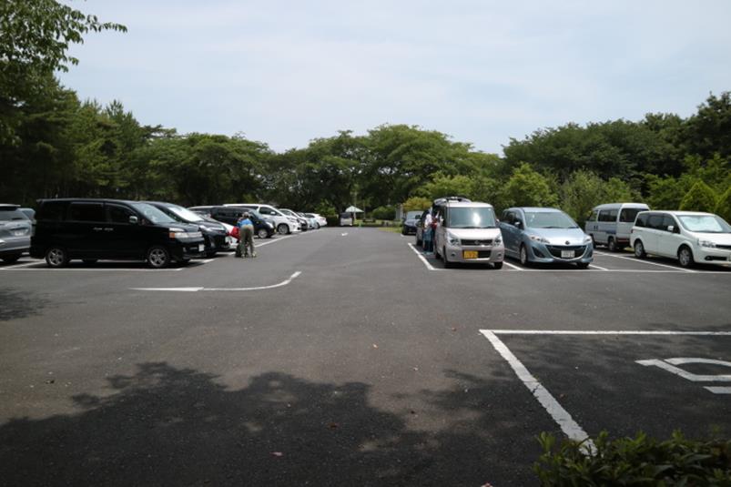 水戸市森林公園のP3駐車場