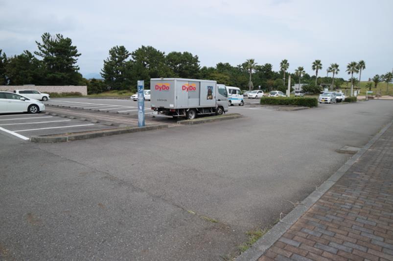 113台駐車可能な広野海岸公園第二駐車場