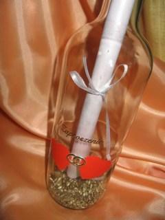 zaproszenie na ślub w butelce