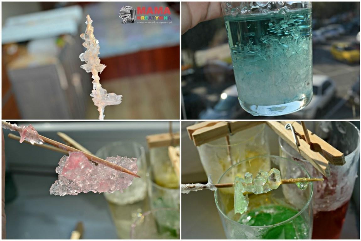 kryształki cukru eksperyment