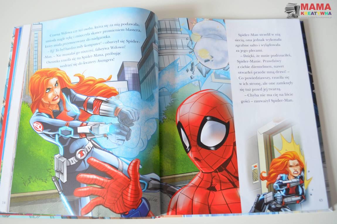 Książka o przygodach Spider Mana