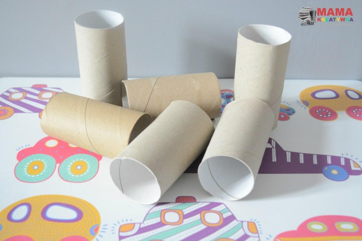 puzzle z rolek po papierze