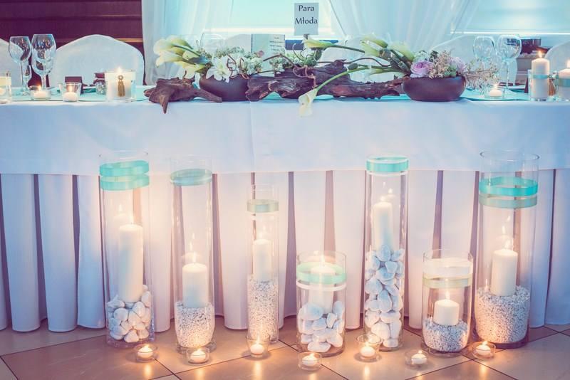 dekoracja stołu młodych