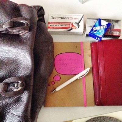Der Inhalt meiner Handtasche heute