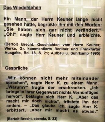 Herr K., Bertold Brecht