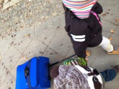 Koffer durch Berlin ziehen