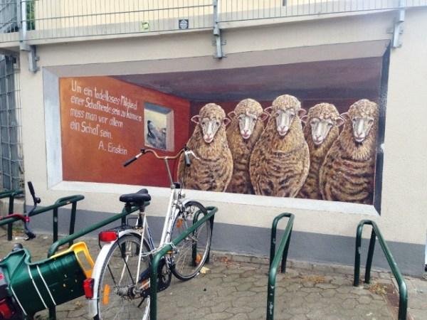 Schafe in der Stadt