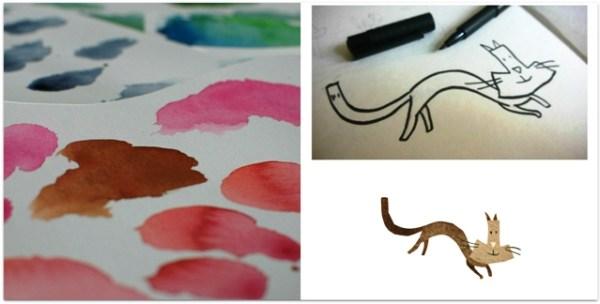 Fiete Katze Collage