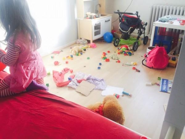 Ein Kinderzimmer muß so aussehen - unordentlich