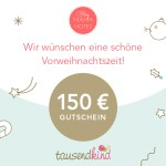 Adventsverlosung am 2. Advent: 150 Euro Gutschein bei tausendkind