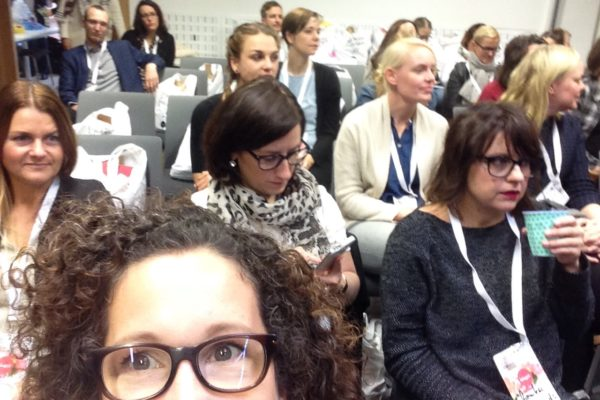Blick ins Publikum auf der Blogst16