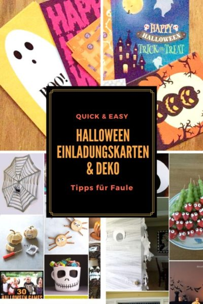 halloween einladungskarten deko schnell gemacht tipps. Black Bedroom Furniture Sets. Home Design Ideas