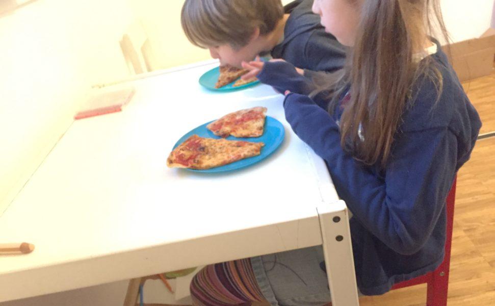 Pizza im Kinderzimmer