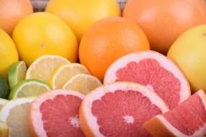 柑橘類の画像。輪切り。