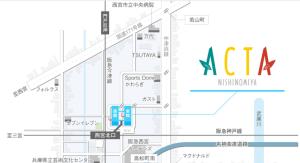 アクタ西宮周辺地図
