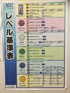 仁川スイミング レベル表