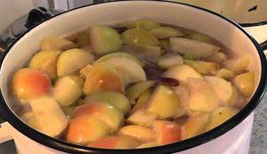 para hacer compota de manzana verde