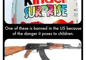 Are Kinders more dangerous than guns?