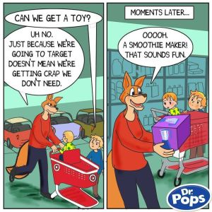 shopping not saving cartoon