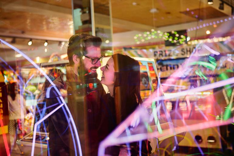 couple date night arcade