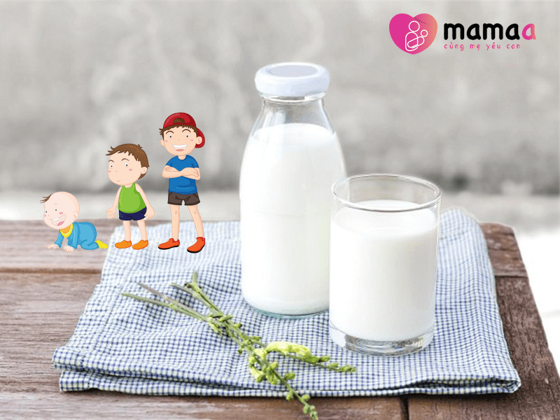 Mama sữa non theo độ tuổi của trẻ
