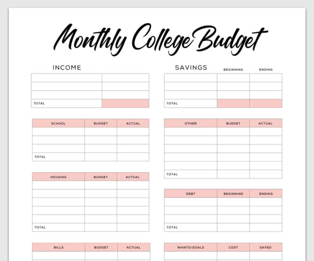 8 Free Printable Budget Templates To Plan Your Spending