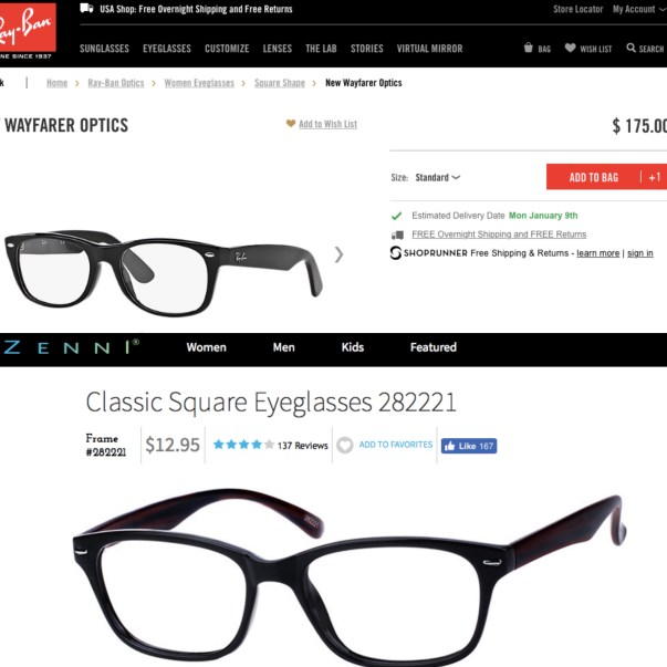 """a12882f32bf """"Frame Fit"""". The only difficult concept with purchasing prescription glasses  online ..."""