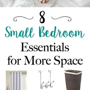 8 Small Bedroom Essentials for More Space - Bedroom ideas, organization and storage tips to make a small bedroom look bigger   www.mamabearbliss.com