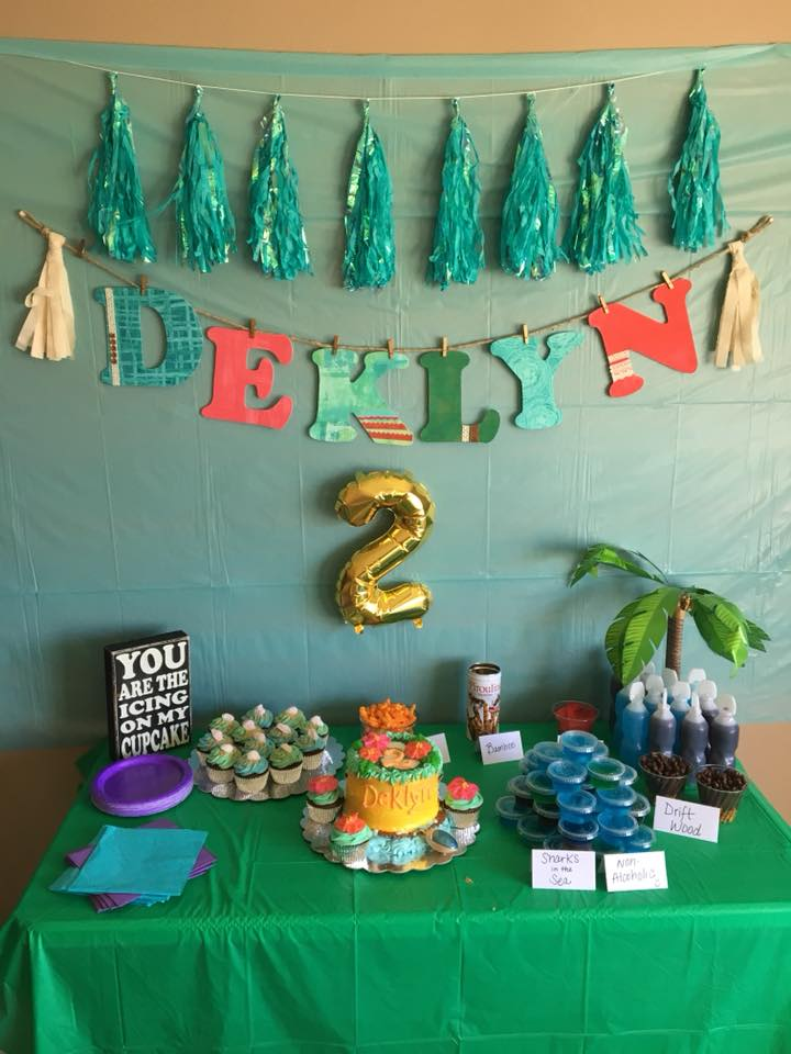 Deklyns Moana Themed 2nd Birthday Party