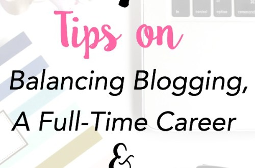 Easy and helpful tips on how to balance blogging and a full-time job. 7 Tips on Balancing Blogging, a Full-Time Career & Motherhood | www.mamabearbliss.com