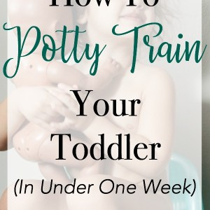 Toddler sitting on potty seat - how to toilet train in one week the easy way | www.mamabearbliss.com #pottytraining #toilettraining