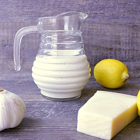 Homemade Caesar salad Dressing. Extra creamy caesar dressing loaded with parmesan, garlic and lemony freshness. A cook book essential, this dressing is sure to light up your taste buds!