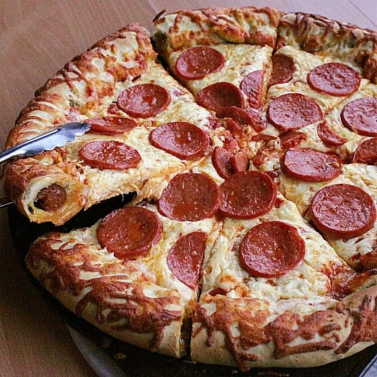 Pizza doesn't get better than this pepperoni stuffed crust pizza recipe. Spices and saltiness combine with the stuffed crust situation for pizza perfection.