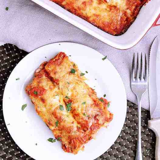 Spinach, Feta and Chicken Cannelloni with Rosé Sauce. Better than lasagne, this delicious pasta is stuffed with chicken, feta and spinach, baked in a rosé sauce and smothered in freshly grated parmesan cheese.