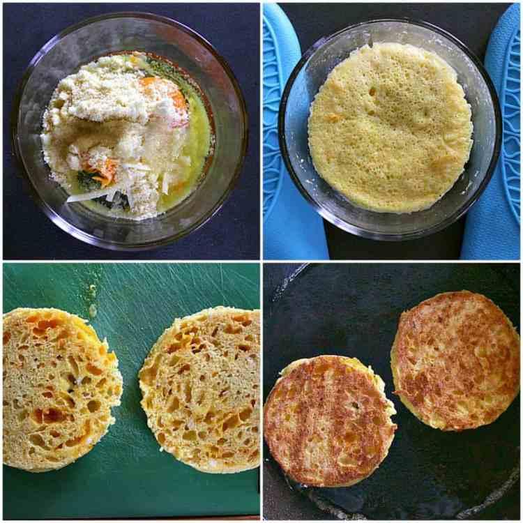 90 Second Keto Bread process collage
