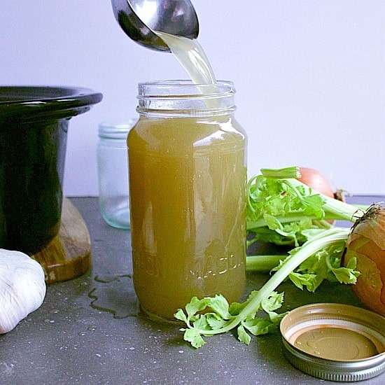 How to Make Bone Broth. Create a nutrient rich bone stock with this easy crock-pot bone broth recipe plus learn about the health benefits of stock!