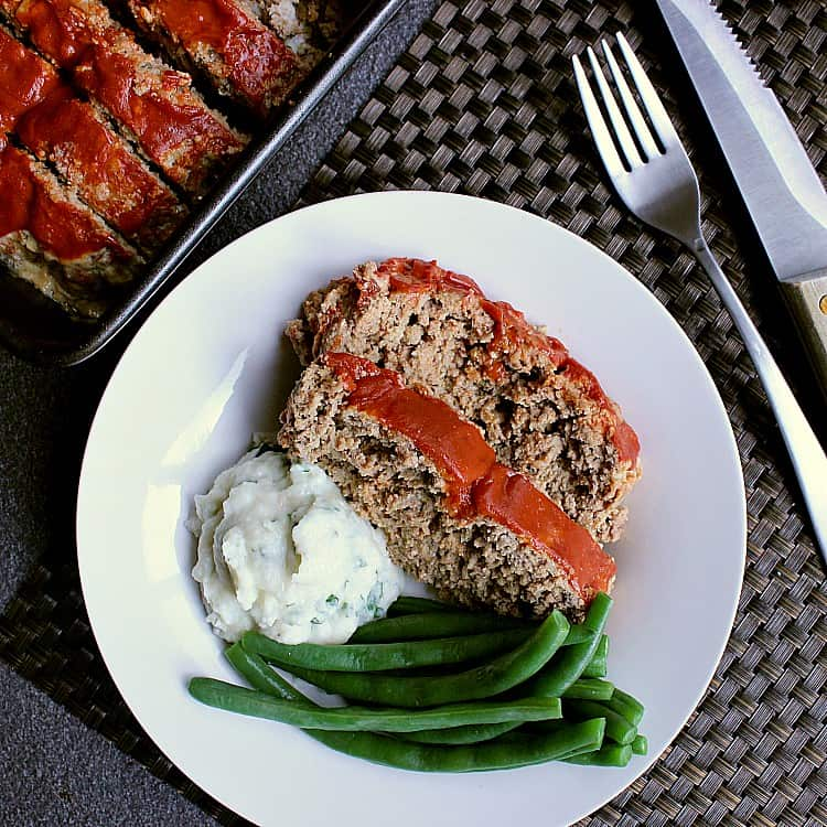 This Low Carb Meatloaf is packed with flavour and absolutely delicious; your family will never know it's made with keto friendly ingredients!