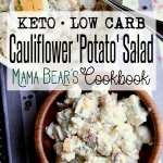 Pin this cauliflower potato salad for later!