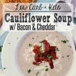 Pin this Keto Cauliflower Soup recipe for later!