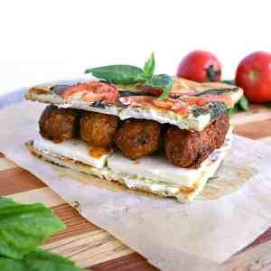 low carb bbq meatball panini.